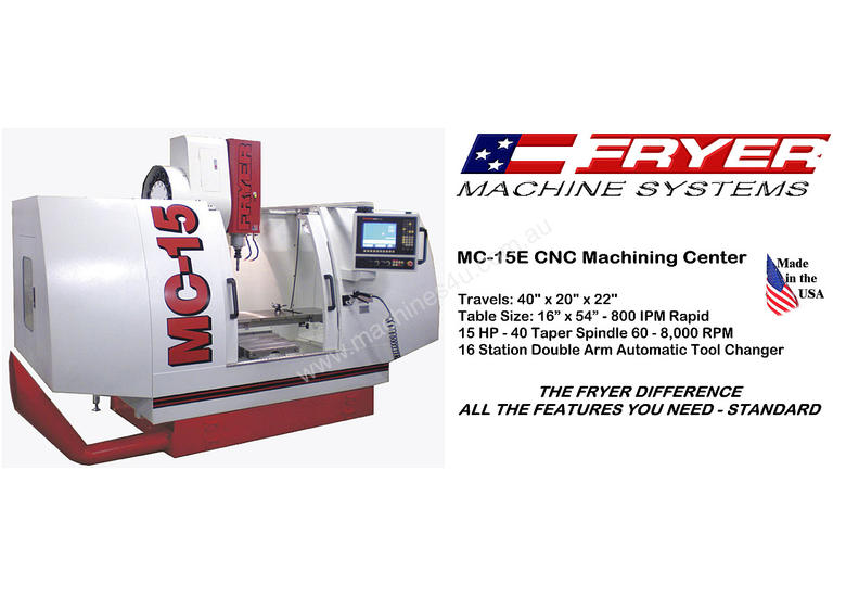 Fryer -  MC-E Series   Economical Machine Centre