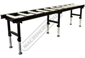 RC-450HD Roller Conveyor with Adjustable Stands - Heavy Duty 540 x 3000mm Ø60mm Rollers