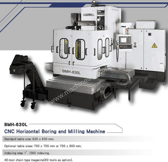 Leadwell BMH 630 CNC Horizontal Boring Machines