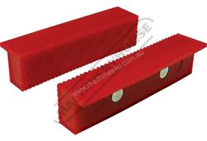 Plastic Magnetic Soft Jaws Standard Serrated Face 100mm