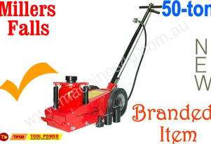 Trolley Jack Truck Type MILLERS FALLS 50-ton Air P