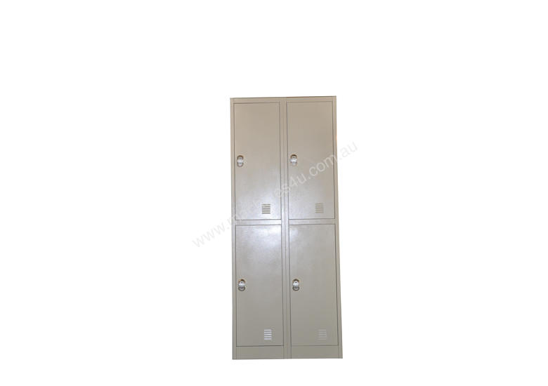 Four Bank Metal Steel Storage Locker