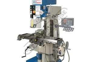 HM-51 Turret Milling Machine (X) 600mm (Y) 220mm (Z) 310mm Includes Digital Readout, Vice & Collet C