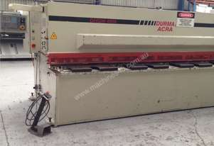 Used Durma DHGM 4000mm x 6mm Hydraulic Guillotine
