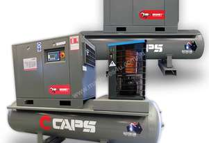CAPS 50cfm Rotary Screw Air Compressor 11kW 10bar 500L Tank
