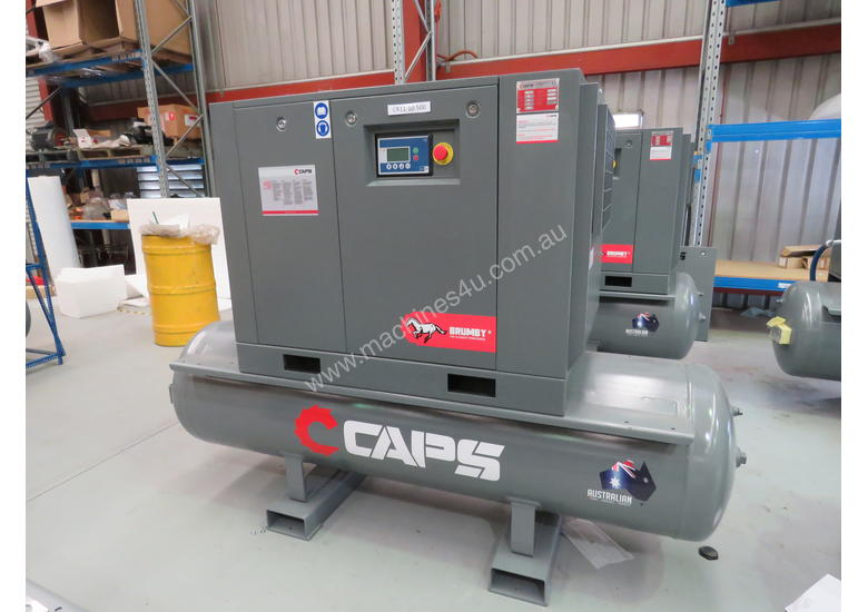 CAPS Brumby CR11-10-500 49cfm 11kW 10Bar Rotary Screw Air Compressor with 500L Receiver Tank