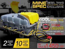 400L Diesel Fuel Tank 12V with mounting Frame TFPOLYDD - picture0' - Click to enlarge