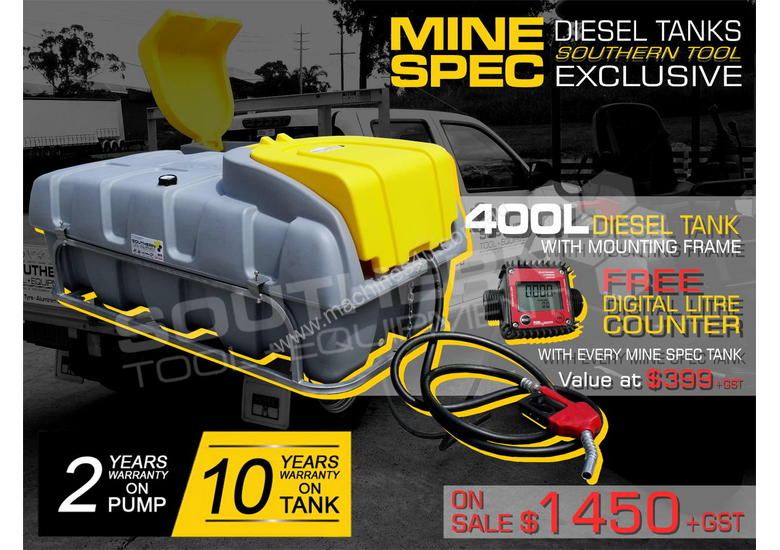 400L Diesel Fuel Tank 12V with mounting Frame TFPOLYDD