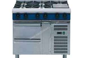 Blue Seal Evolution Series G518D-RB - 1200mm Gas Cooktop Refrigerated Base