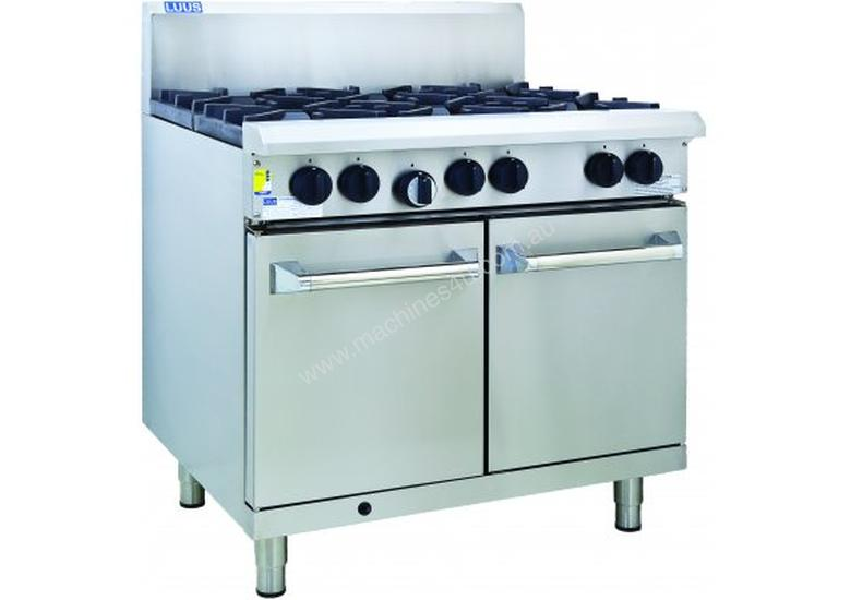 Luus RS-4B3C 900mm Oven with 4 Burners & 300mm Chargrill Professional Series