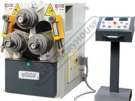 HPK-80 Section & Pipe Rolling Machine 80 x 80 x 8mm Angle Capacity Includes Digital Readout Display - picture0' - Click to enlarge