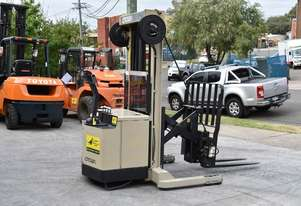 Crown 1.5T Walkie Reach Stacker Forklift HIRE from $150pw + GST