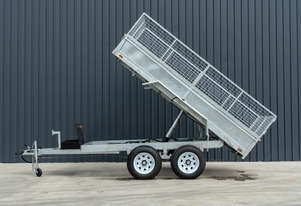12ft x 6ft Tandem Axle Cage Tipping Trailer 4.5T