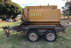 2,000 Litre Diesel Tanker On Tandem Trailer