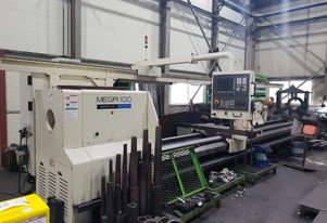 Quality used Hwacheon Heavy Duty Mega 100x6000 CNC Lathe with Siemens 802D