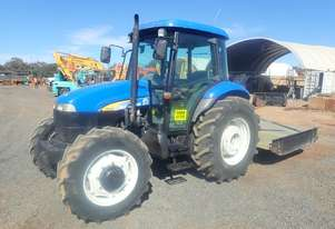 New Holland TD80D Tractor and Slasher