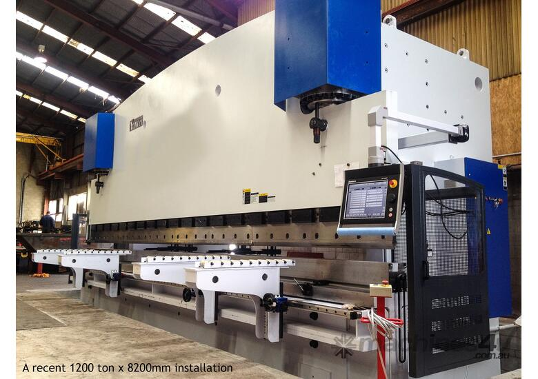 Yawei PBC 110-3100 CNC7. New model with extra stroke & open height. Stock machine arriving soon.