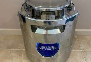 Milk Can - Stackable Stainless Steel 15L**WE ARE OPEN DURING LOCKDOWN**