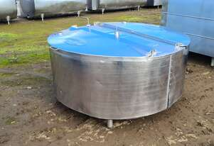 900lt STAINLESS STEEL TANK, MILK VAT