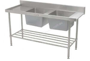 SIMPLY STAINLESS 1650x600x900 D/W ENTRY 2 BOWL