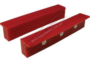 Plastic Magnetic Soft Jaws Standard Serrated Face 150mm