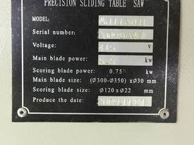 2009 GTEK Precision Sliding Table Saw - picture1' - Click to enlarge