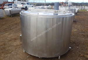 STAINLESS STEEL TANK, MILK VAT 2630 LT