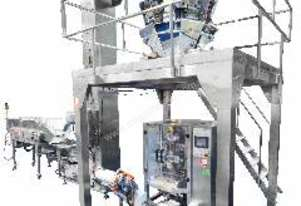 Multihead Weighing System with conveyors and bucket elevator