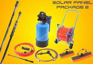 Solar panel cleaning unit