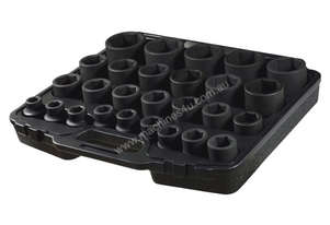 A86604 - 27 PC 3/4\ SQ. DR. 6PT IMPACT SOCKET SET METRIC