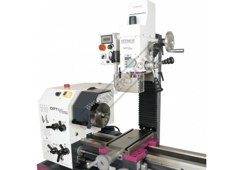 TU-3008G-20M Opti-Turn Lathe & Mill Drill Combination Package Deal 300 x 700mm Included BF-20AV Mill