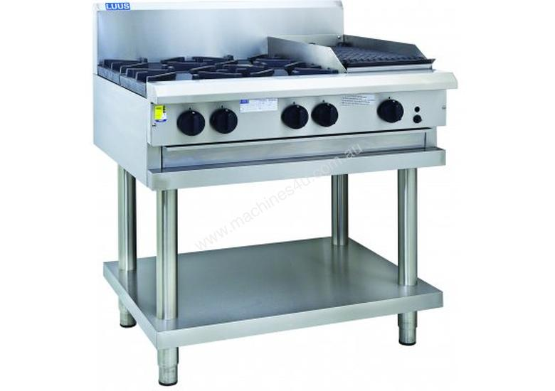 Luus CS-2B6P 900mm Cooktop with 2 Burners, 600mm Grill & Shelf Professional Series