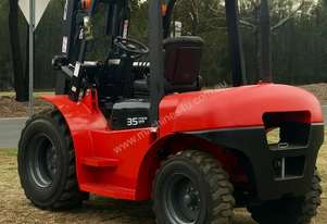 Rough Terrain Forklift - 3.5 Tonne Quality Izusu Diesel - 3 Year warranty