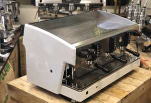 WEGA ATLAS EVD WHITE 3 GROUP ESPRESSO COFFEE MACHINE