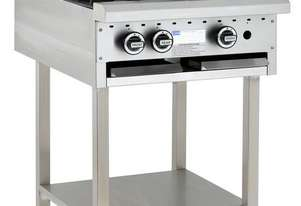 2 Burner 300mm Griddle Cooktop with legs & shelf