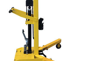 Vestil Drum Lifter Mover, Automatic Rim Latch on Casters, 400kg Drum Lifter, VD-LD-406