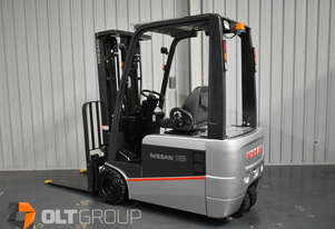 Nissan 3 Wheel Battery Electric Forklift 1.8 Tonne Current Model Container Mast 4750mm Lift