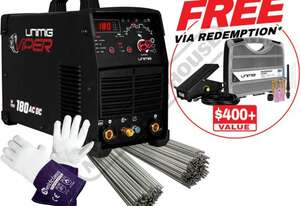 "VIPERâ""¢ TIG 180 AC/DC Multi-Function Inverter TIG/MMA (ARC) Welder Package Deal #KUM-M-VTIG180ACDC"