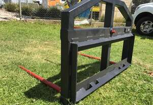 Skid Steer Hay Forks With Universal Mounting Plate