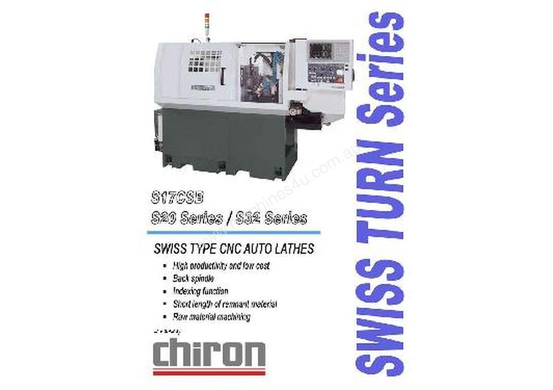 Swiss Turn Sliding Head CNC Lathe