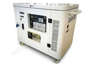 9KVA Petrol Portable Generator Silenced Canopy - Inverter Technology