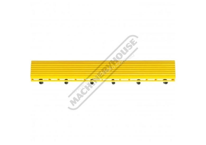 Yellow Industrial Flooring Tapered Edges with Lugs QTY 10 Per Pack