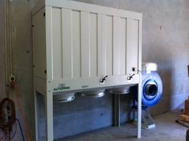DUST COLLECTOR WOOD 415V 7.5HP FILTER TOP/ 3 BOTTOM PLASTIC BAG SILENCED VERSION W/ELECTRIC PANE 10H - picture1' - Click to enlarge