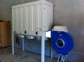 DUST COLLECTOR WOOD 415V 7.5HP FILTER TOP/ 3 BOTTOM PLASTIC BAG SILENCED VERSION W/ELECTRIC PANE 10H - picture0' - Click to enlarge