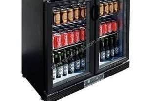 Polar DL816-A - Bar Display Cooler Black Double Hinged Doors
