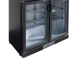 Polar DL816-A - Bar Display Cooler Black Double Hinged Doors - picture2' - Click to enlarge