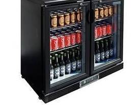 Polar DL816-A - Bar Display Cooler Black Double Hinged Doors - picture0' - Click to enlarge
