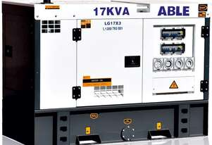 17 kVA Generator 415V, 3 Phase - Remote Start Available