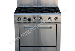 6 Gas Open Burner Cooktop with Gas Static Oven