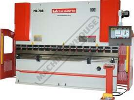 PB-70B Hydraulic CNC Pressbrake 70T x 3200mm CNC Fasfold 202 Control 2-Axis with Hardened Ballscrew  - picture2' - Click to enlarge